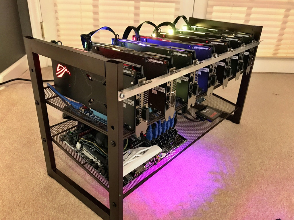 Example of an Ethereum Mining Rig